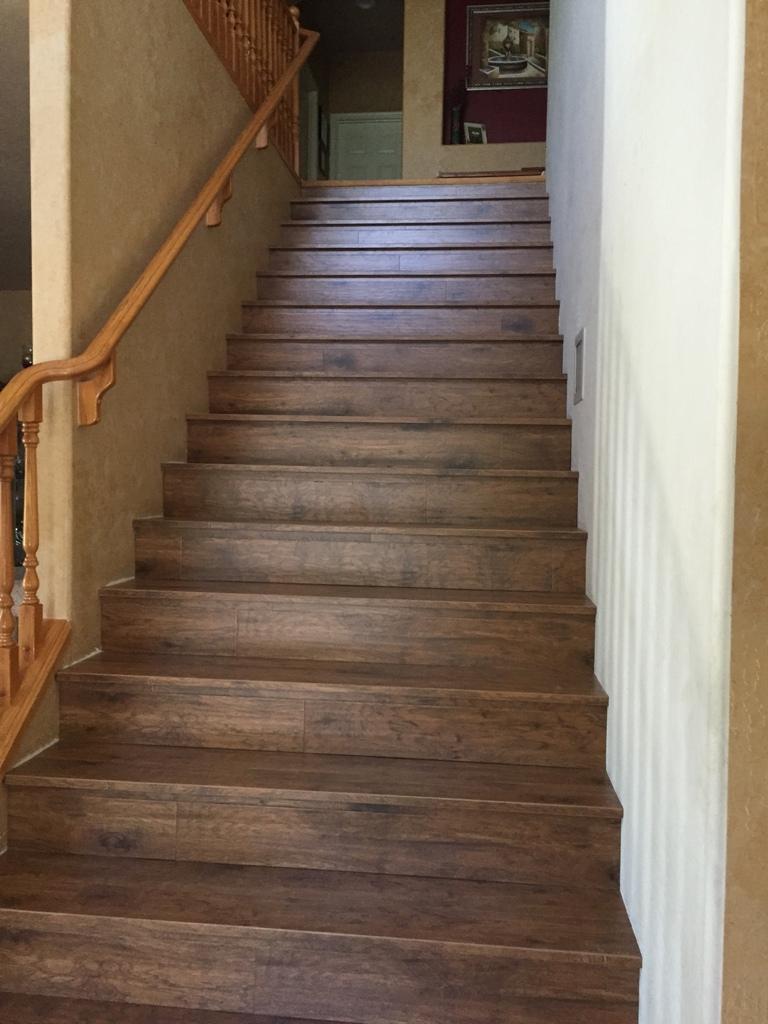 Custom Lamimate Wood Stairs   Gilbert 1