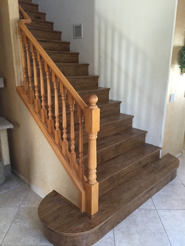 Custom Lamimate Wood Stairs   Gilbert 4