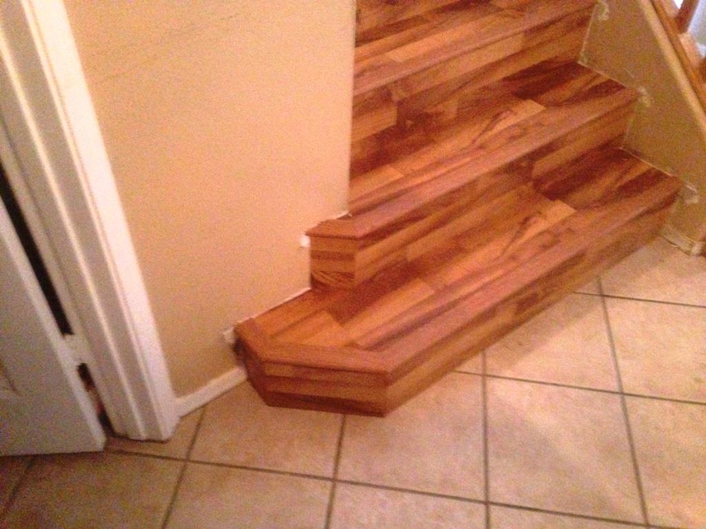 Custom laminate wood stairs